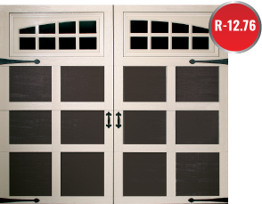 NWI overhead garage door styles available, insulated steel made to resemble wooden garage door designs and carriage house garage doors.