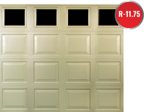 Maintenance-free thick vinyl Durafirm Garage Doors have thermal efficiency & exterior noise, dents & rust protection for NWI Valparaiso Porter County Indiana Merrillville Lake County Indiana