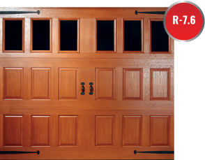 Fiberglass Garage Doors have molded wooded grain fiberglass surface that conceals its durable steel construction for NWI Valparaiso Porter County Indiana Merrillville Lake County Indiana