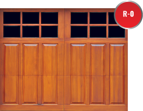 Overhead Door carriage wooden garage doors have 16 standard designs available for paint or stain serving Lake County, Porter County, Belshaw Brunswick Cedar Lake Chesterton Creston Crown Point De Motte Dyer East Chicago Gary Green Acres Griffith Hammond H